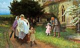 Philip Richard Morris The Christening Party painting