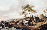 Philips Wouwerman The Halt of the Hunting Party painting