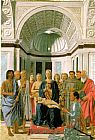 Piero della Francesca Madonna and Child with Saints (Montefeltro Altarpiece) painting