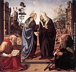 Piero di Cosimo The Visitation with Sts Nicholas and Anthony painting