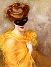 Pierra Ribera Lady At A Masked Ball painting
