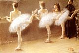 Pierre Carrier-Belleuse At The Barre painting