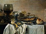 Pieter Claesz Still Life with Fish painting