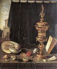 Pieter Claesz Still Life with Great Golden Goblet painting