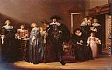 Pieter Codde A Portrait Of THe Family Twent In An Interior painting