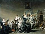 Pieter Codde Galant Company painting