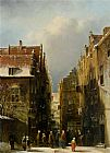 Pieter Gerard Vertin A Wintry Dutch Town painting