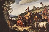 Pieter Lastman Abraham's Journey to Canaan painting