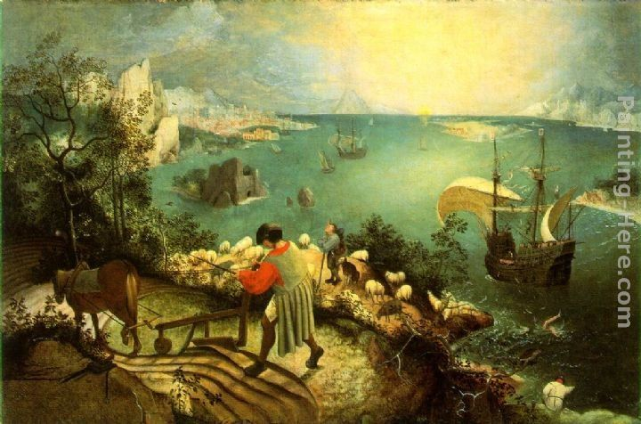 Pieter the Elder Bruegel Landscape with the Fall of Icarus