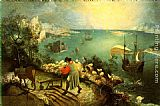 Pieter the Elder Bruegel Landscape with the Fall of Icarus painting