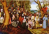 Pieter the Younger Brueghel A LandScape With Saint John The Baptist Preaching painting