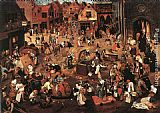 Pieter the Younger Brueghel Battle of Carnival and Lent painting