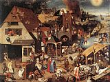 Pieter the Younger Brueghel Proverbs painting
