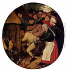 Pieter the Younger Brueghel Pushed Into The Pig Sty painting