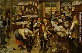 Pieter the Younger Brueghel The Payment of Tithes painting