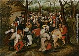Pieter the Younger Brueghel The Wedding Dance painting