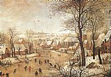 Pieter the Younger Brueghel Winter Landscape with a Bird-trap painting