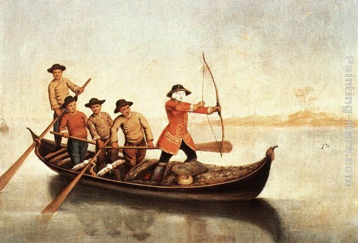 Pietro Longhi Duck Hunters on the Lagoon