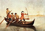 Pietro Longhi Duck Hunters on the Lagoon painting