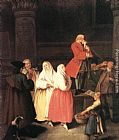 Pietro Longhi The Soothsayer painting