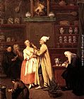 Pietro Longhi The Spice-vendor's shop painting