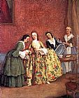 Pietro Longhi The Venetian Lady's Morning painting