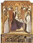Pietro Lorenzetti Madonna with Angels between St Nicholas and Prophet Elisha painting