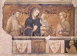 Pietro Lorenzetti Madonna with St Francis and St John the Evangelist painting