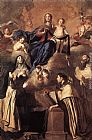 Pietro Novelli Our Lady of Mount Carmel painting