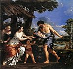 Pietro da Cortona Romulus and Remus Given Shelter by Faustulus painting