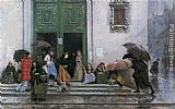 Raimundo de Madrazo y Garreta Coming out of Church painting