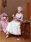 Raimundo de Madrazo y Garreta Hot Chocolate painting
