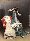 Raimundo de Madrazo y Garreta Preparing for the Costume Ball painting