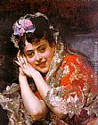 Raimundo de Madrazo y Garreta The Model Aline Masson with a White Mantilla painting