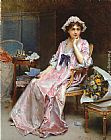 Raimundo de Madrazo y Garreta The Reluctant Mistress painting