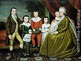 Ralph Earl Mrs. Noah Smith and Her Children painting