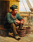 Ralph Hedley The Cabin Boy painting