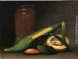 Raphaelle Peale Corn and Canteloupe painting