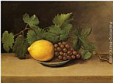 Raphaelle Peale Lemon and Grapes painting