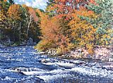 Richard Wheeler Whitney Autumn Along the Ashuelot painting