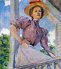 Robert Reid A Summer Girl painting