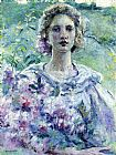 Robert Reid Girl with Flowers painting