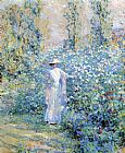 Robert Reid In the Flower Garden painting