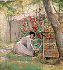 Robert Reid Tending the Garden painting