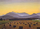 Rockwell Kent Hay Bales, Evening, Below Whiteface painting
