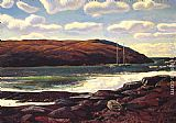 Rockwell Kent Monhegan Harbour painting