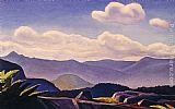 Rockwell Kent Mountain Landscape painting