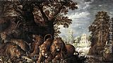 Roelandt Jacobsz Savery Landscape with Wild Animals painting