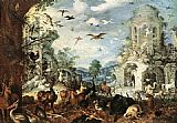 Roelandt Jacobsz Savery Landscapes with Wild Beasts painting