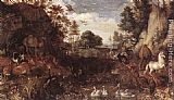 Roelandt Jacobsz Savery The Garden of Eden painting